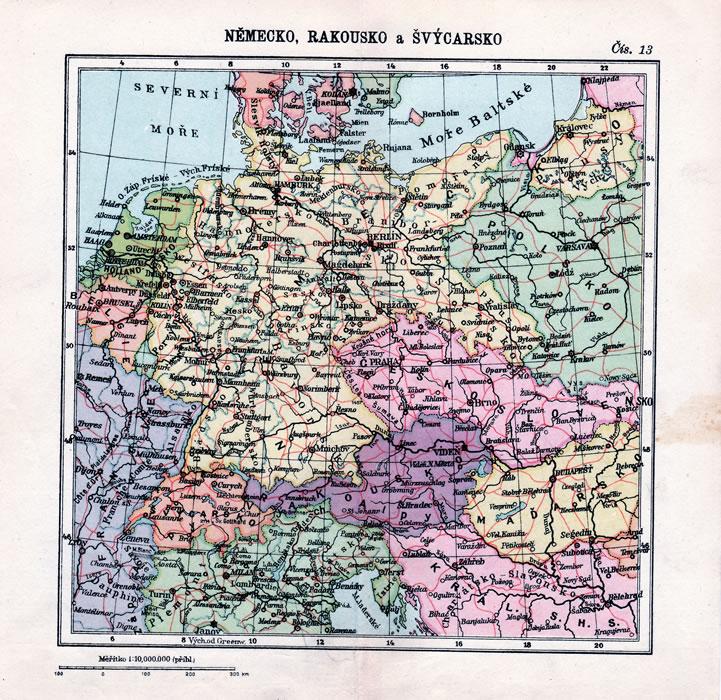 mapa-nemecko-rakousko-svycarsko