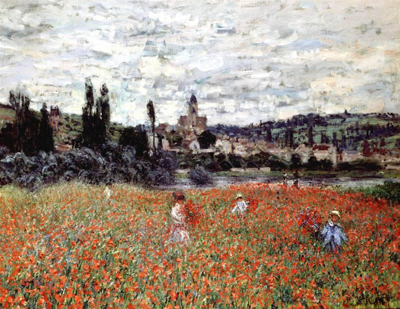 Claude Monet - Makové pole u Vétheuil - 1879
